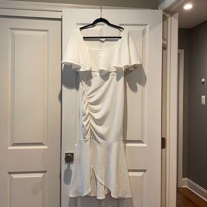 NWT ASOS Off the Shoulder Midi Dress Ruffl…